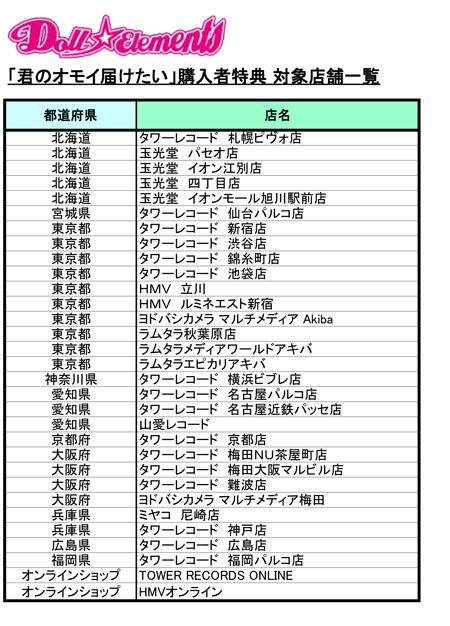 【拠点リスト】Doll☆Elements_kiminoomoitodoketai